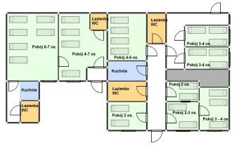 plan pomieszczeń do wynajęcia